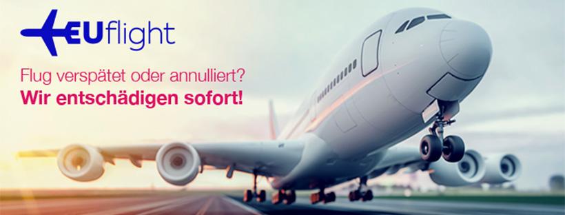 Flug verspätet oder annulliert? EUflight entschädigt sofort!
